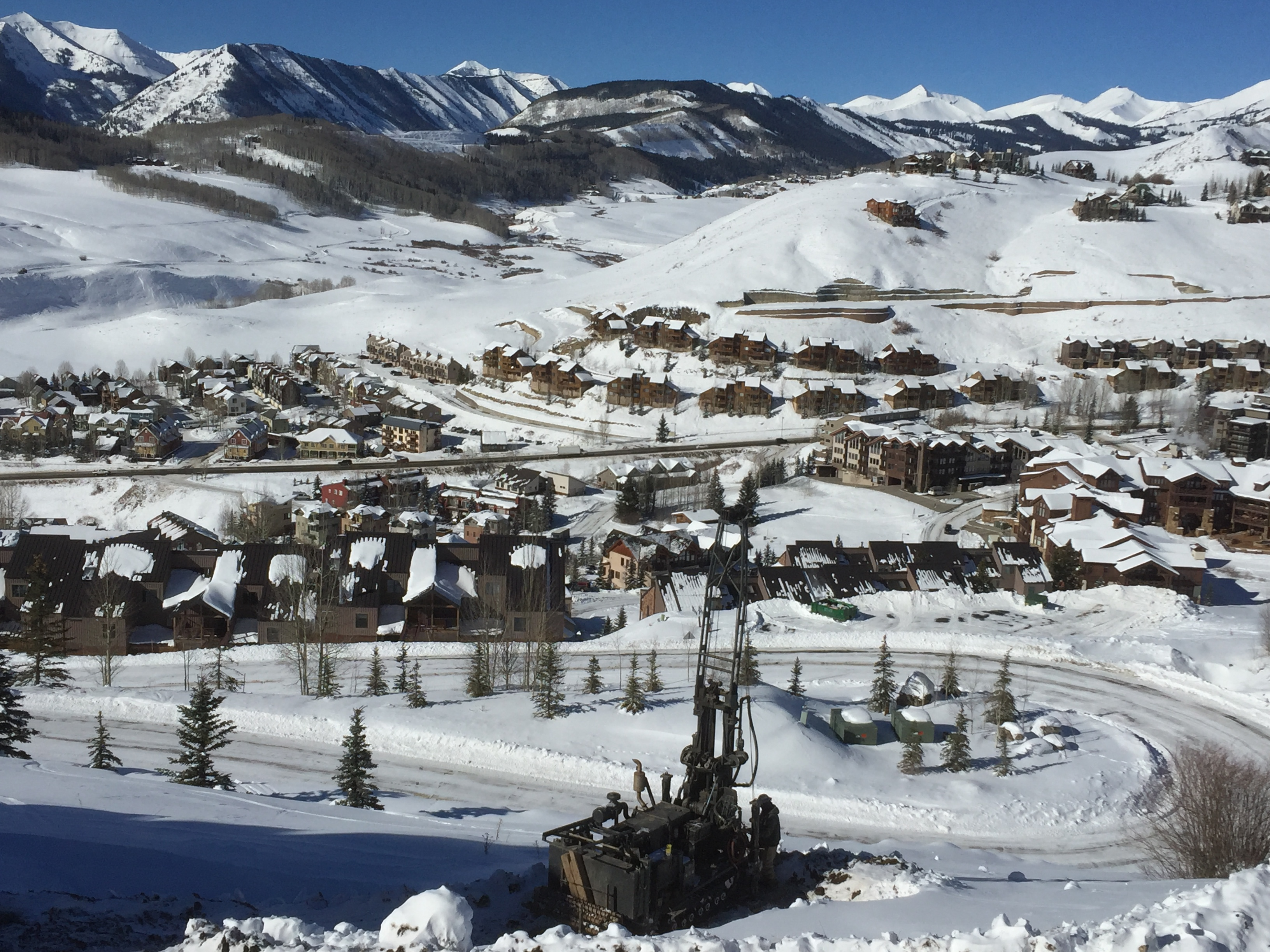 Winter Geotechnical Drilling Crested Butte 2019